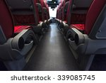 bus seats in row with red... | Shutterstock . vector #339085745