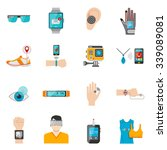wearable technology icons set... | Shutterstock .eps vector #339089081