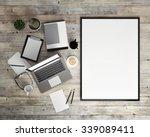3d illustration of poster...   Shutterstock . vector #339089411