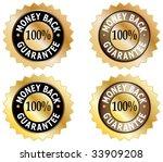 four money back guarantee... | Shutterstock .eps vector #33909208