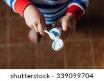 boy taking toothpaste | Shutterstock . vector #339099704