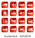 transportation icons buttons... | Shutterstock . vector #33910078