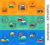 traffic violation horizontal...   Shutterstock .eps vector #339100931