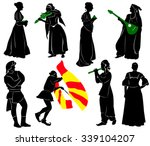 silhouettes of people in... | Shutterstock .eps vector #339104207