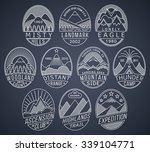 set of alpinist and mountain... | Shutterstock .eps vector #339104771