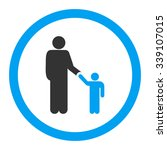 father with son vector icon.... | Shutterstock .eps vector #339107015