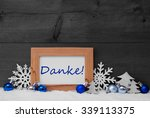 blue gray decoration on snow....   Shutterstock . vector #339113375