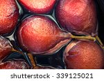 pears poached in red wine sauce | Shutterstock . vector #339125021