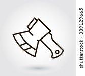 black flat line vector icon... | Shutterstock .eps vector #339129665