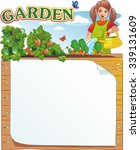 girl watering plants in the...   Shutterstock .eps vector #339131609