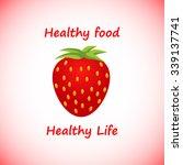 healthy food logo with slogan... | Shutterstock .eps vector #339137741