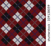 knitted seamless pattern argyle | Shutterstock .eps vector #339138059