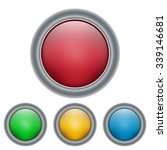 glossy vector button surrounded ... | Shutterstock .eps vector #339146681