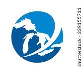 Great Lake Logo Vector.
