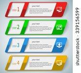 vector abstract 3d paper... | Shutterstock .eps vector #339156599