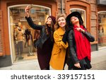 outdoors fashion portrait of... | Shutterstock . vector #339157151