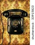 Retro Telephone On Retro...
