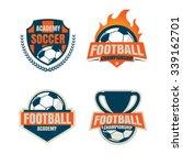 football  logo template... | Shutterstock .eps vector #339162701