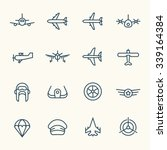 aviation icon set | Shutterstock .eps vector #339164384