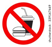 no food allowed symbol ... | Shutterstock .eps vector #339167669