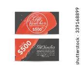 gift voucher template | Shutterstock .eps vector #339168899