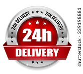 red 24h delivery badge with...