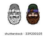 vector logo. a man with a beard.... | Shutterstock .eps vector #339200105