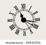 antique clock face   vector... | Shutterstock .eps vector #33920293