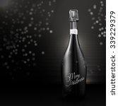 an elegant champagne bottle in... | Shutterstock .eps vector #339229379