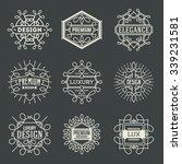 premium lux insignias logotypes ... | Shutterstock .eps vector #339231581