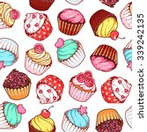 seamless pattern with different ... | Shutterstock .eps vector #339242135