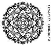 circular pattern in form of... | Shutterstock .eps vector #339244151