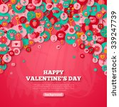 valentine's day background with ... | Shutterstock .eps vector #339247739