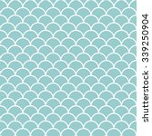 Teal And White Scales Pattern...