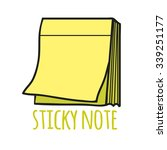 sticky note. isolated with the... | Shutterstock .eps vector #339251177