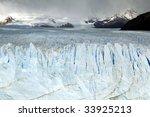Perito Moreno Glacier in Los Glaciares National Park located in southern Argentina.