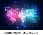 vector digital global... | Shutterstock .eps vector #339252911