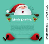 merry christmas  santa claus... | Shutterstock .eps vector #339254627