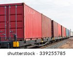 container trains   Shutterstock . vector #339255785