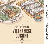 hand drawn of vietnamese fresh... | Shutterstock .eps vector #339259175