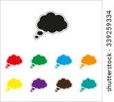 cloud   color vector icon | Shutterstock .eps vector #339259334