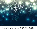 abstract snowflake christmas... | Shutterstock .eps vector #339261887