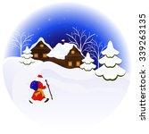 christmas night illustration... | Shutterstock . vector #339263135