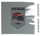 classic off road suv car emblem ... | Shutterstock .eps vector #339263999