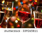 crystal glasses of wine on the... | Shutterstock . vector #339265811