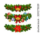 christmas festive decoration... | Shutterstock .eps vector #339275039