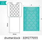 die cut pocket envelope layout. | Shutterstock .eps vector #339277055