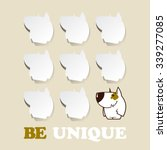 funny card with cartoon doggy... | Shutterstock .eps vector #339277085