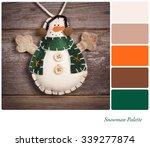 retro style felt snowman over... | Shutterstock . vector #339277874