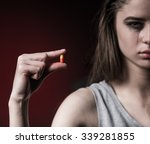 the social problem. young... | Shutterstock . vector #339281855
